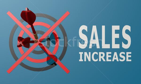 Dart board blue sales increase Stock photo © tang90246