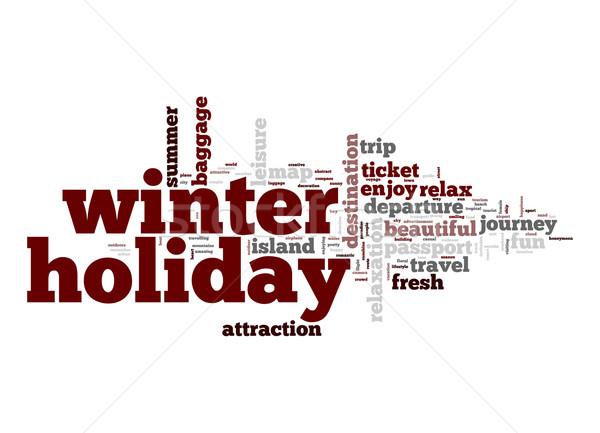 Winter holiday word cloud Stock photo © tang90246
