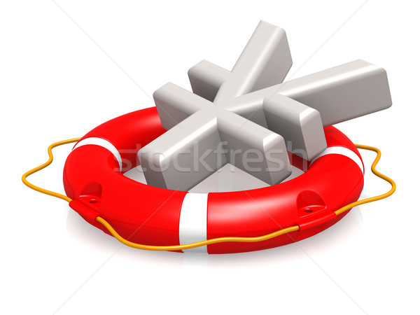 Life buoy with yen sign Stock photo © tang90246