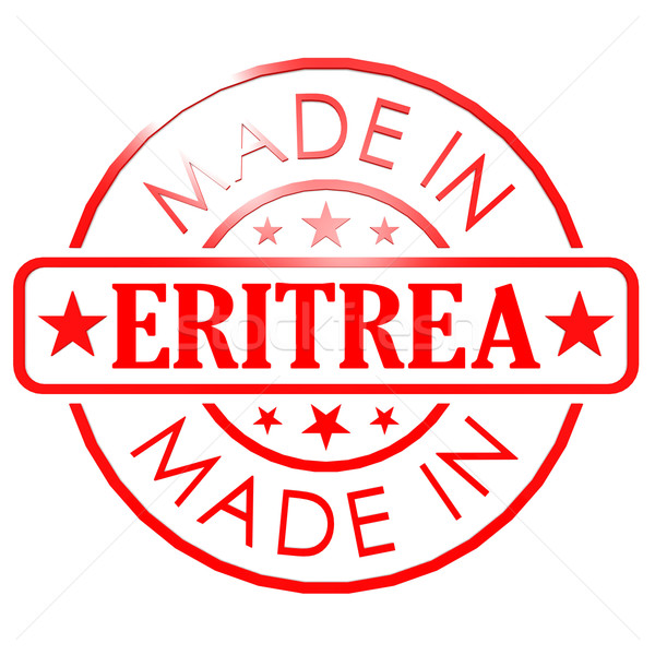 Made in Eritrea red seal Stock photo © tang90246
