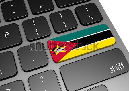 Tablet Namibya bayrak görüntü render Stok fotoğraf © tang90246