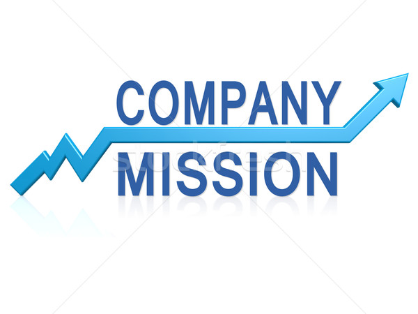 компания миссия синий стрелка изображение оказанный Сток-фото © tang90246