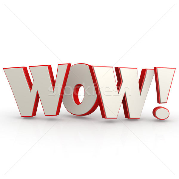 WOW word with white background Stock photo © tang90246