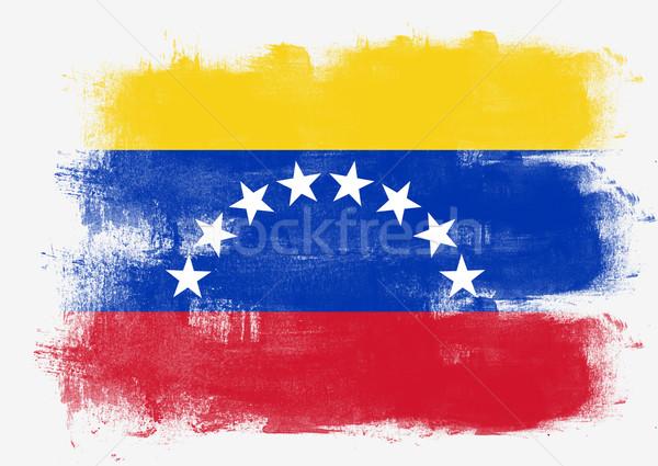 флаг Венесуэла окрашенный щетка твердый аннотация Сток-фото © tang90246
