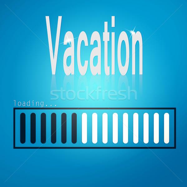 Vacation blue loading bar Stock photo © tang90246