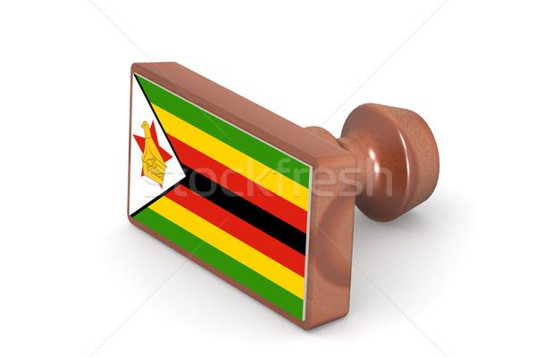 木製 スタンプ ジンバブエ フラグ 画像 レンダリング ストックフォト © tang90246