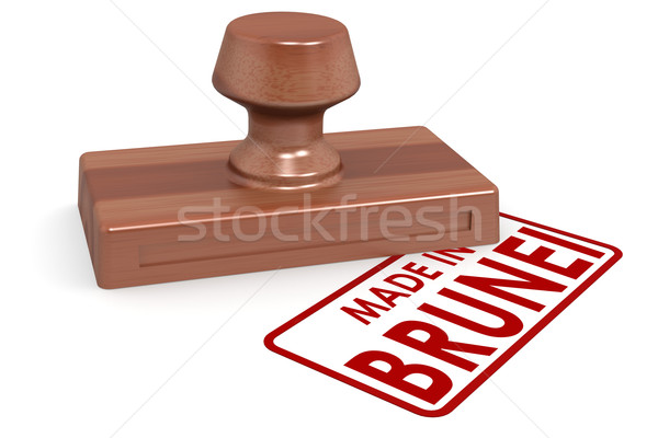 Wooden stamp made in Brunei Stock photo © tang90246