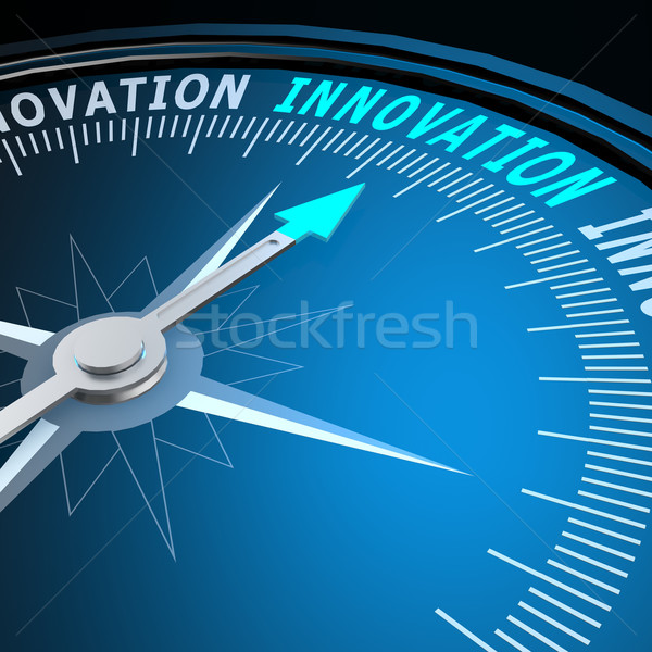 Foto stock: Innovación · palabra · brújula · imagen · prestados