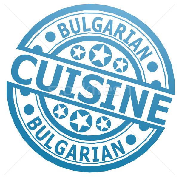 Bulgarian cuisine stamp Stock photo © tang90246