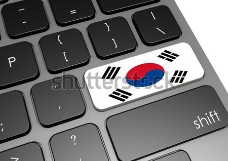 Güney Kore klavye görüntü render kullanılmış Stok fotoğraf © tang90246