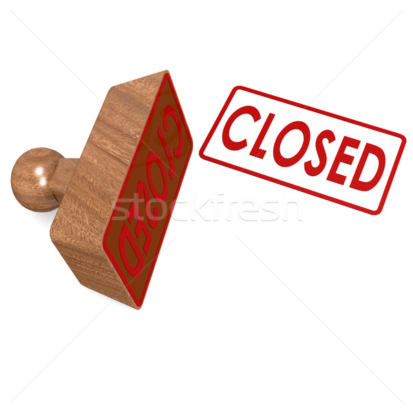 Closed stamp Stock photo © tang90246