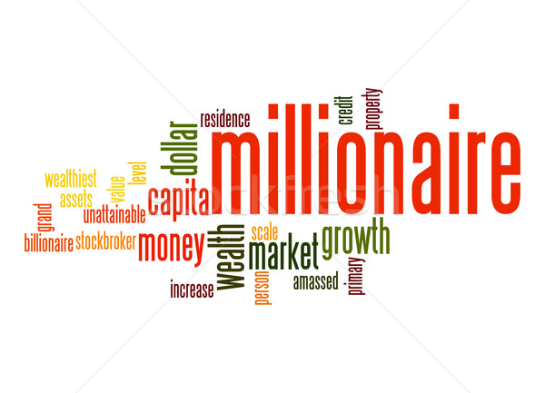 Millionaire word cloud Stock photo © tang90246