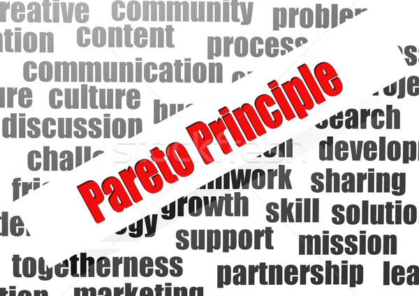 Pareto principle word cloud Stock photo © tang90246