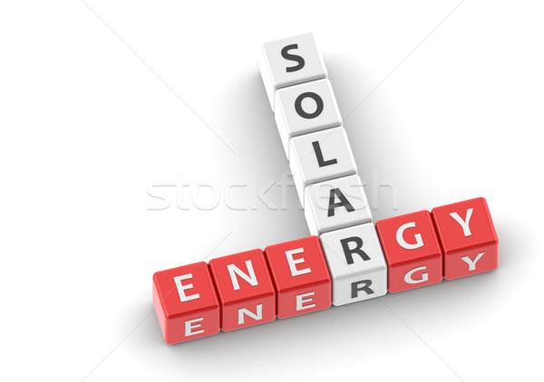Zonne-energie afbeelding gerenderd gebruikt grafisch ontwerp Stockfoto © tang90246