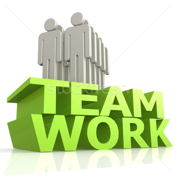 Travail d'équipe marionnette affaires homme équipe succès Photo stock © tang90246