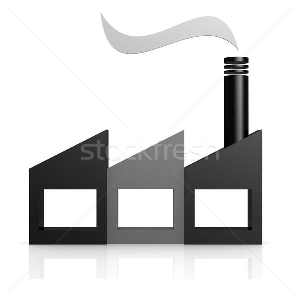Gyár ikon kép renderelt mű használt Stock fotó © tang90246