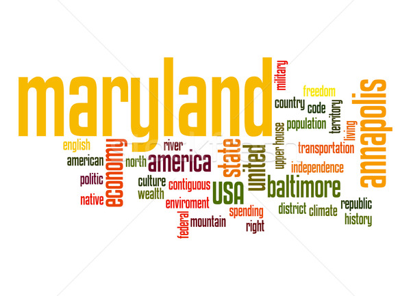 Maryland word cloud Stock photo © tang90246