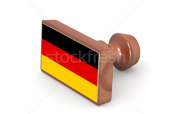 Wooden stamp with Germany flag Stock photo © tang90246