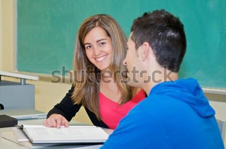 Eğitim sınıf koyu esmer kolej Öğrenciler Stok fotoğraf © tangducminh