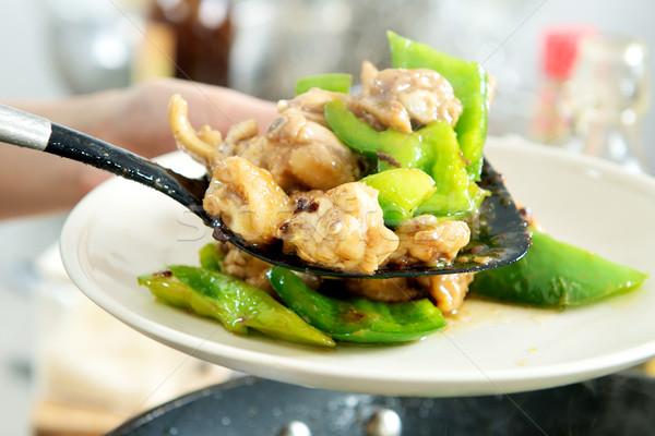 調理 中国食品 中国語 鶏 翼 皿 ストックフォト © tangducminh