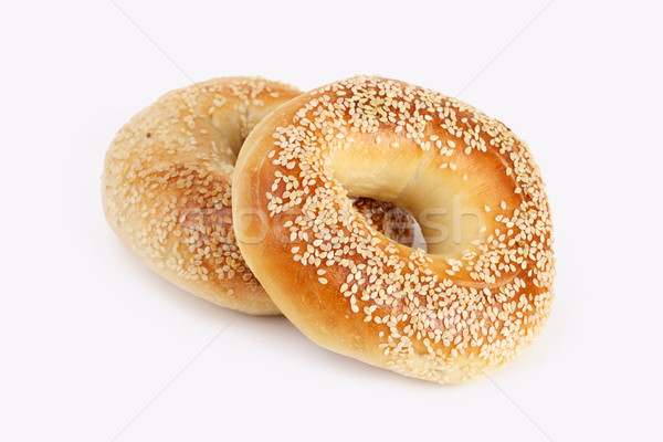 Kettő szezám étel kenyér búza reggeli Stock fotó © tangducminh