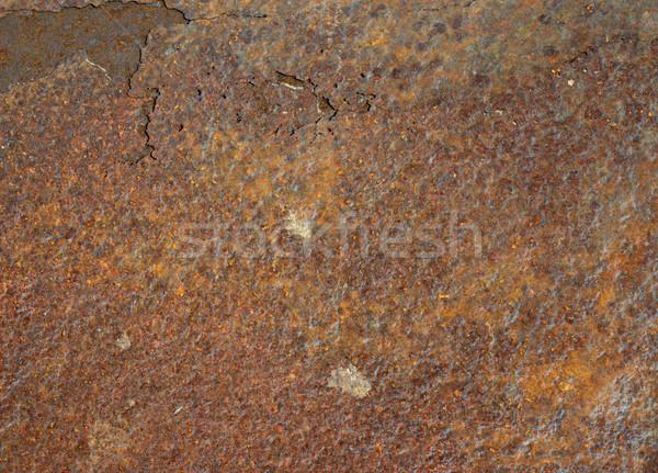 Гранж металл ржавые старые коричневый Сток-фото © tangducminh