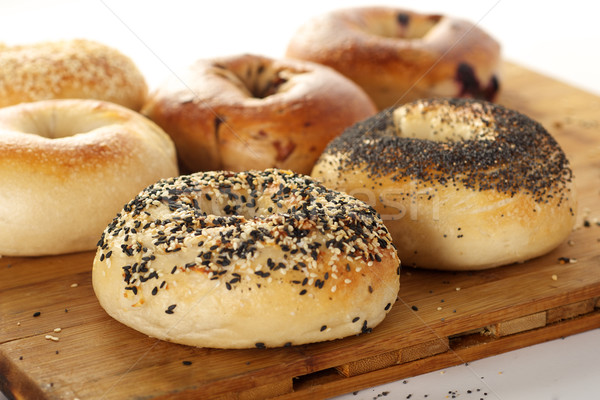 Fresh Bagels Stock photo © tangducminh