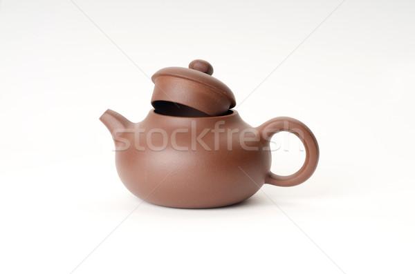 Açmak demlik Çin beyaz içmek çay Stok fotoğraf © tangducminh