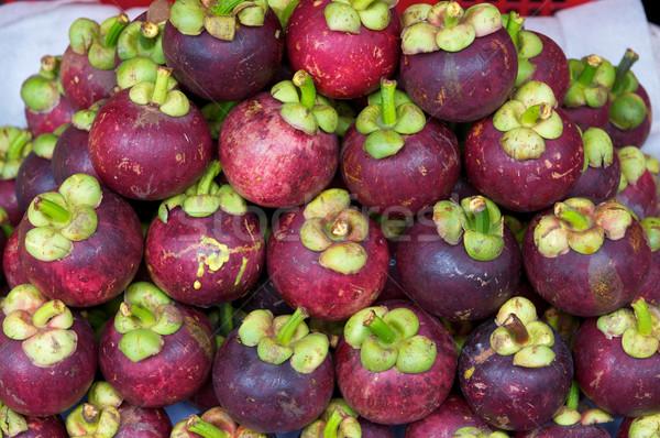 Мангостин рынке Sweet тропические продовольствие зеленый Сток-фото © tangducminh