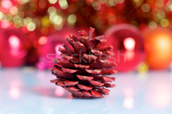 Pine cone on Christmas background Stock photo © tangducminh