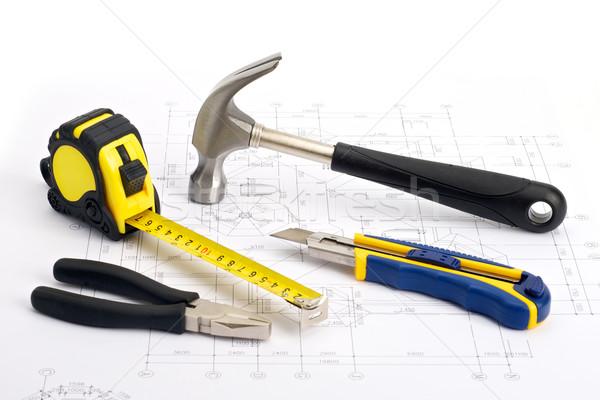 ремонта инструменты план различный домой работу Сток-фото © tangducminh