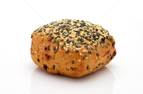 Teljeskiőrlésű búza zsemle egészséges fehér kenyér arany Stock fotó © tangducminh