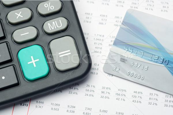 финансовых кредитных карт докладе анализ стороны калькулятор Сток-фото © tangducminh