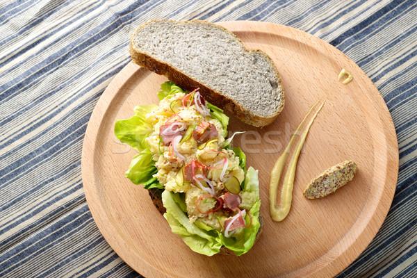 Salada de batatas sanduíche fresco delicioso café da manhã Foto stock © tangducminh