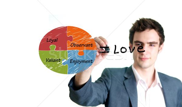 man writing love concept Stock photo © tangducminh