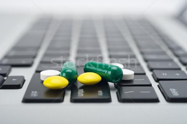Online farmaci da prescrizione prescrizione fine bottiglie medicina Foto d'archivio © tangducminh