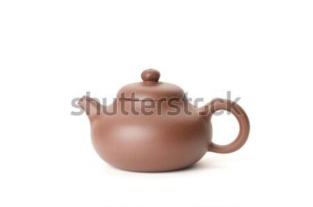 Bule chinês branco beber chá dieta Foto stock © tangducminh