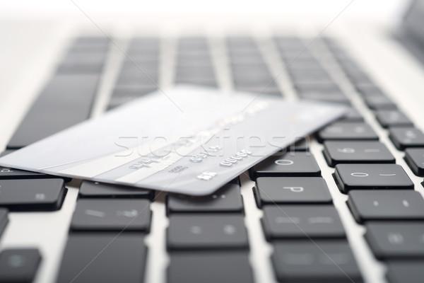 кредитных карт клавиатура интернет домой ключевые Сток-фото © tangducminh