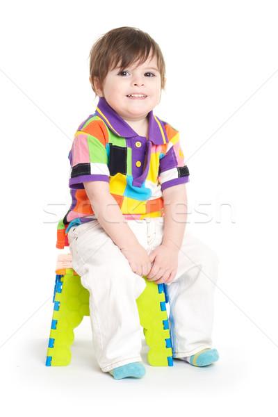 Bebê criança sessão bonitinho criança jogar Foto stock © tangducminh
