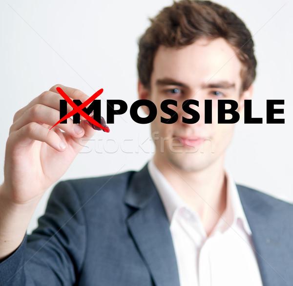 Man uit onmogelijk professionele jonge man fiche Stockfoto © tangducminh