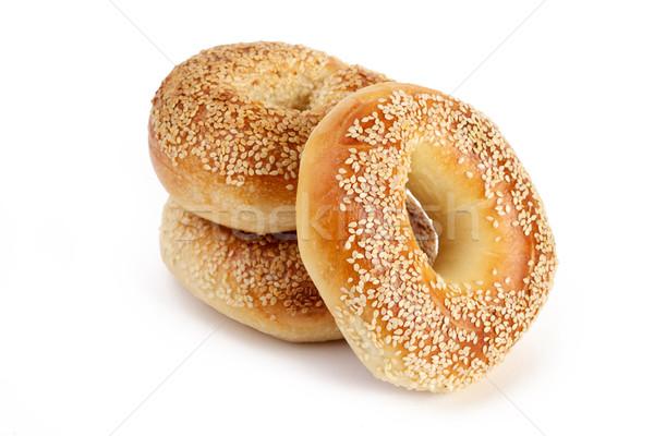 Tres sésamo salud pan trigo frescos Foto stock © tangducminh