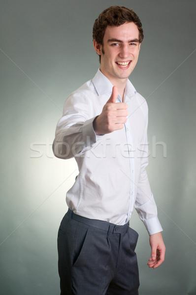 профессиональных молодым человеком бизнеса счастливым костюм Сток-фото © tangducminh