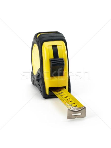 рулетка желтый строительство ног Сток-фото © tangducminh