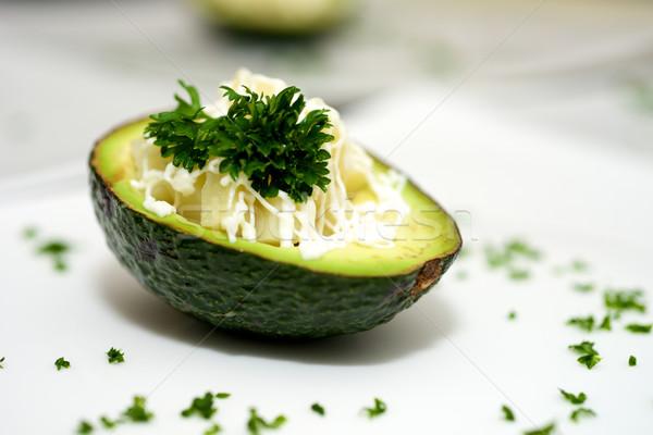 Abacate sobremesa belo legumes prato comida Foto stock © tangducminh