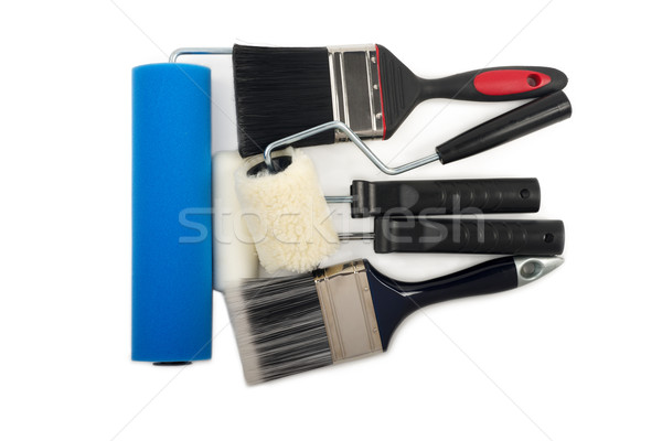 Paint Rollers and Brush Stock photo © tangducminh
