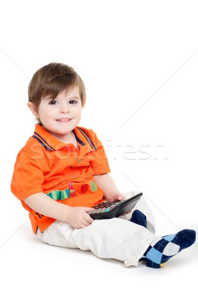 Baby gemakkelijk berekening calculator Stockfoto © tangducminh