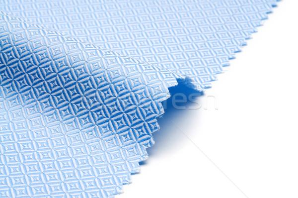 Stockfoto: Weefsel · textuur · witte · Blauw · gekleurd