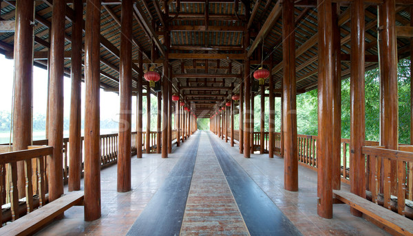Guilin Yangshuo Pagoda Temple Pathway Stock photo © tangducminh