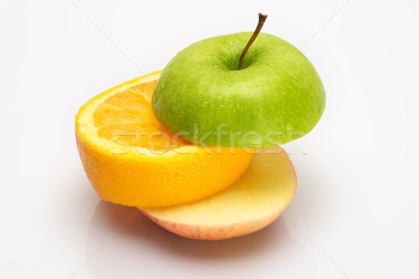 Meyve dilimleri sandviç meyve beyaz turuncu Stok fotoğraf © tangducminh