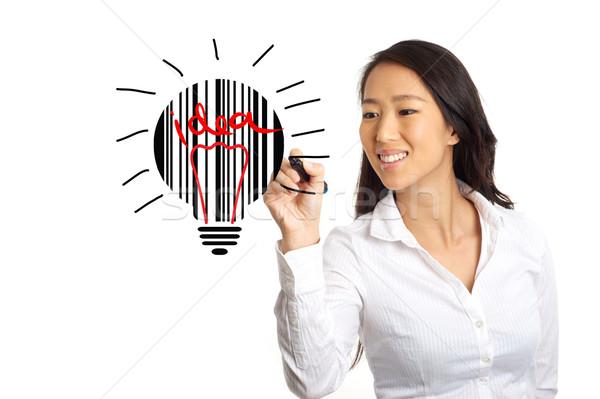 Iş kadını fikir Asya iyi gülümseme dizayn Stok fotoğraf © tangducminh